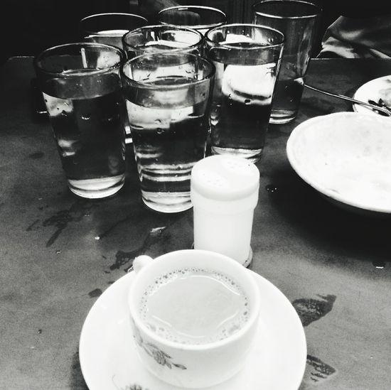 Tea and a few glass of water Tea Restaurant Travel Bangladesh Thirdworld