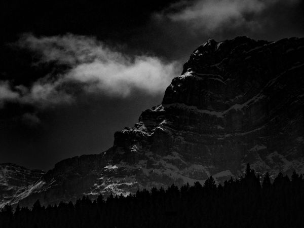 Black Blackandwhite Cloud Dark Forest Mountain Mountain Addict Nature Physical Geography Sky Snowcapped Mountain Showcase July