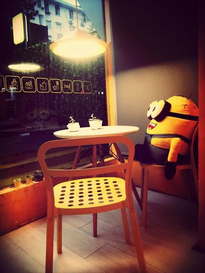 Minions At Caffe Hello World Enjoying Life