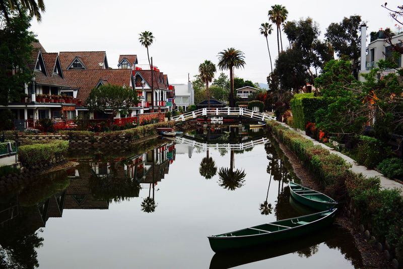 Neighborhood Map Tree Architecture Building Exterior Water Built Structure Reflection Transportation Waterfront Outdoors Palm Tree No People Day Nature Nautical Vessel Clear Sky Sky EyeEmAwards17 California Dreamin