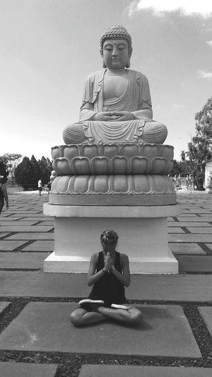 Religion Spirituality Sitting Full Length Zen-like Statue Cross-legged