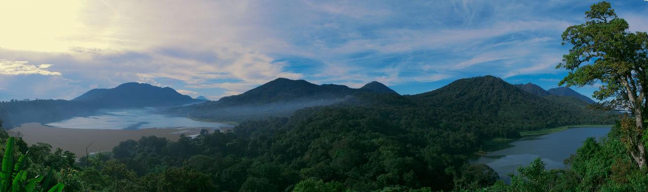 Cloud - Sky Sky Beauty In Nature Mountain Tranquility Panoramic Nature Forest Danau Tamblingan Danau Buyan Tamblingan Lake Buyan Lake Bali INDONESIA Panorama Bali