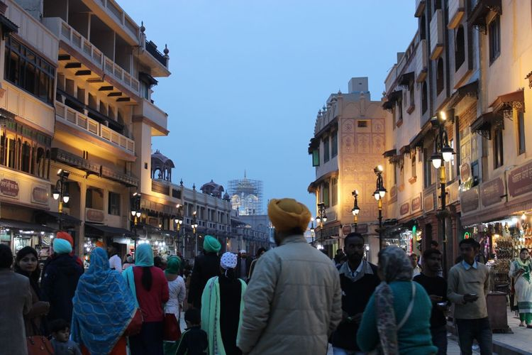Crowded street Building Exterior Architecture Group Of People City Built Structure Large Group Of People Crowd