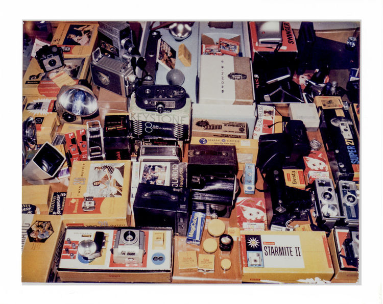8mm Projector Arrangement Brownie Automatic Outfit Camera Collection In A Row Indoors  Large Group Of Objects My Priceless Brownie Box Camera. Order Yl