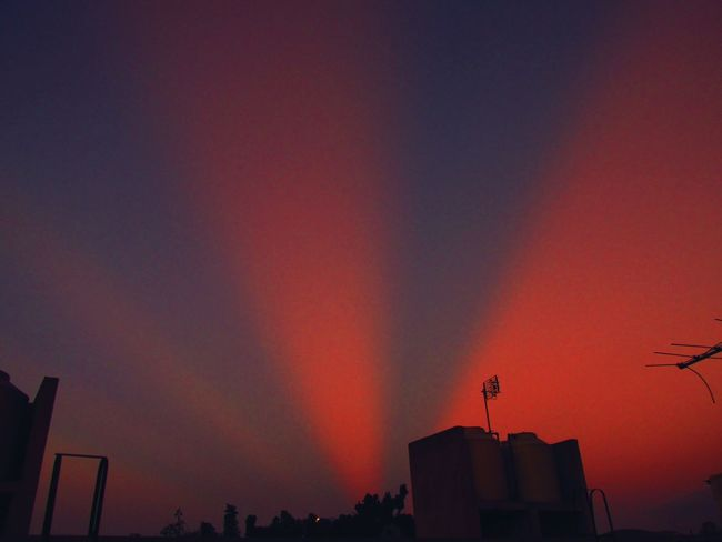Rayos anticrepusculares Cielo Atardecer Sky Collection Rosa Paisaje Buenosaires Beautiful Photography Sky LindaFoto