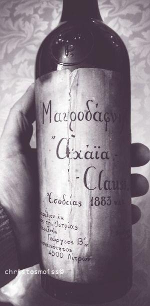 Oldwine Achaiaclauss Mavrodaphne 1883 Rarewine FineWine Greekwine Winemoments Winelover Wineporn Achaia Patra Patras Vinrouge Vin Wein VintageWine