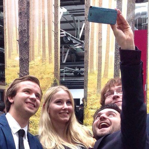 People Watching Taking Photos Of People Taking Photos Selfie Smile