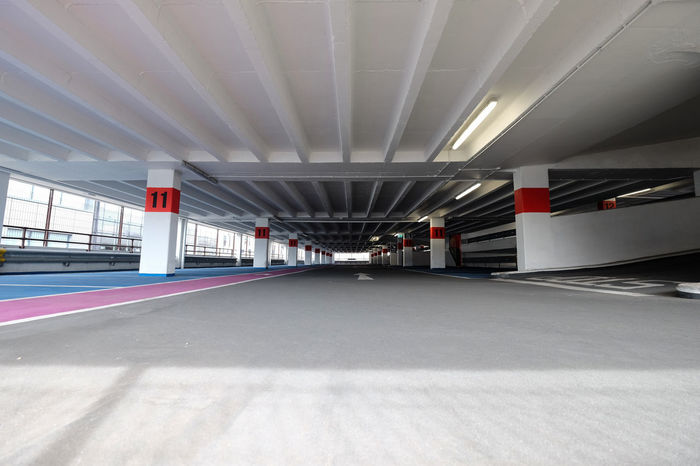 Empty car park. Jersey, Channel Islands 11 Empty Places Parking Space Architectural Column Architecture Built Structure Carpark Carparking City Concrete Concrete Jungle Day Empty Illuminated Indoors  Modern Multistory Multistory Construction No Cars  No People Parking Parking Garage The Way Forward Transportation Urban