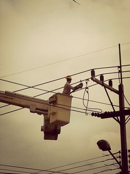 It's Business Time Working Hard Living Dangerously Electric Wire