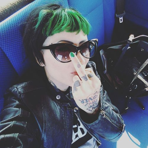 Me Inked Lolli Selfie Piercer Mistress Ink Fuck Tattoo Undermyfeet Photooftheday Greenhair Relaxing Loveink La Isla Bonita
