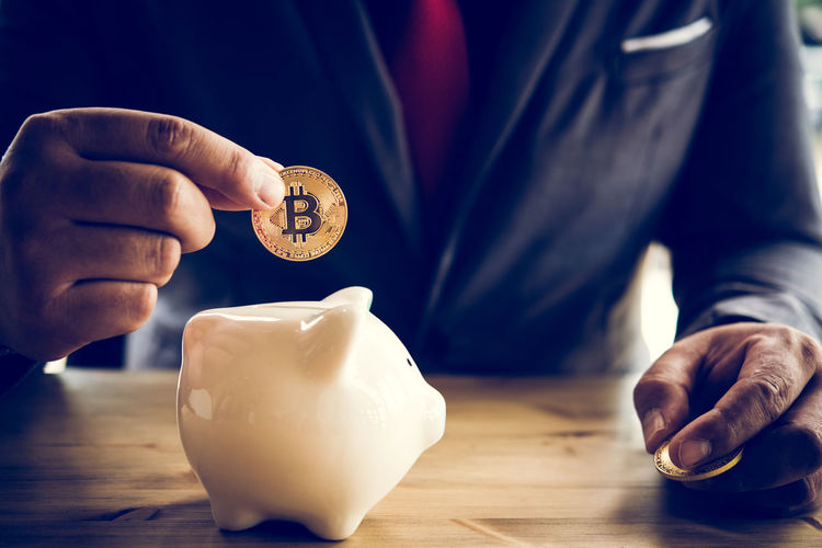 Human Hand Hand One Person Holding Savings Finance Human Body Part Coin Table Indoors  Real People Currency Piggy Bank Men Close-up Investment Focus On Foreground Business Food And Drink Finger Breaking