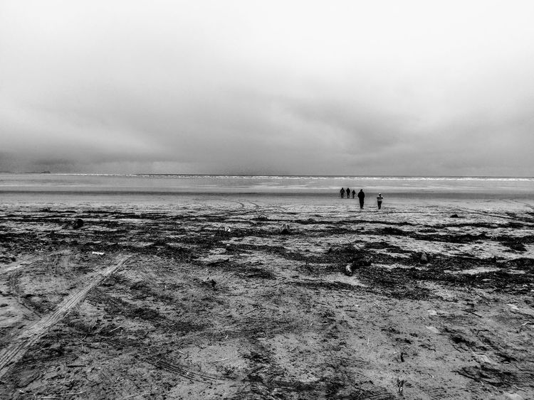 Walking into the void VOID . Sea Beach Horizon Over Water Sky Scenics Water Outdoors Nature Leisure Activity Tranquility Tranquil Scene Day Vacations Beauty In Nature People Wales Wales UK Wales, UK Wales Landscape Coastline Landscape Blackandwhite Photography Black&white Black And White Collection