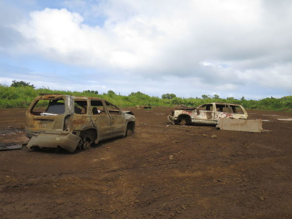 Hawaii, Maui Cloud Cloud - Sky Cloudy Deterioration Field Hawaii Land Vehicle Landscape Maui Mode Of Transport Nature No People Non-urban Scene Outdoors Overcast Run-down Rural Scene Sky Stationary Tranquil Scene Tranquility Weather The Drive