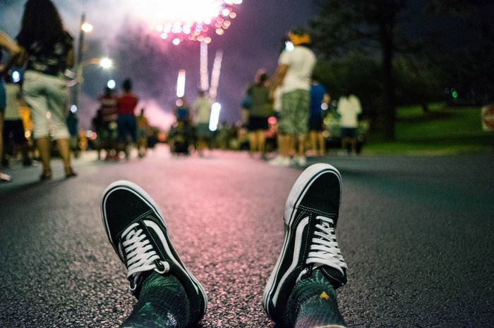 Happy 4th Low Section Human Leg Men Shoe Street Standing Close-up Architecture Canvas Shoe Things That Go Together Human Foot Personal Perspective Light Trail The Still Life Photographer - 2018 EyeEm Awards