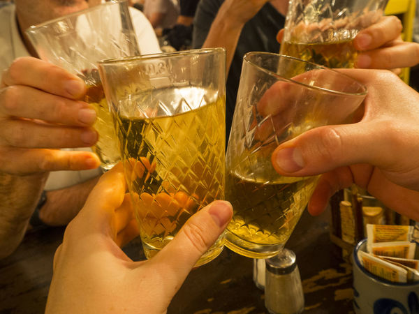 Frankfurt Am Main Geripptes Alcohol Applewine Celebration Celebratory Toast Cider Drink Drinking Glass Food And Drink Friendship Holding Human Body Part Human Hand Real People Refreshment