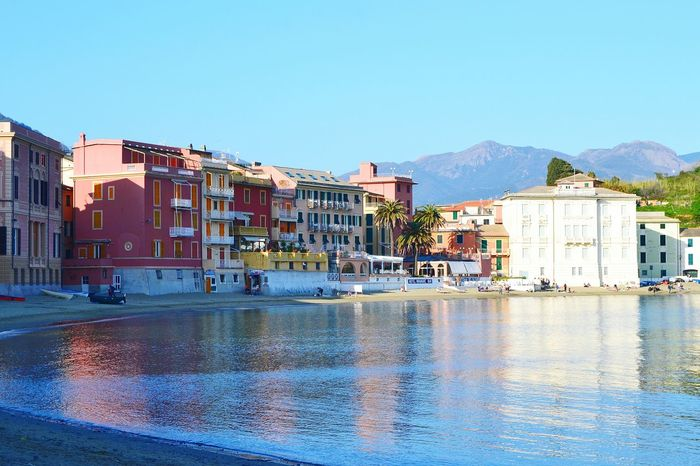 Sea And Sky Sea Liguria Liguria Di Levante Baia Del Silenzio Sestri Levante Reflection EyeEm Gallery Liguria,Italy No People Beauty In Nature Sky Landscape Nature Travel Destinations Reflection Flowers, Nature And Beauty Tranquility Outdoors Scenics Vacations Day