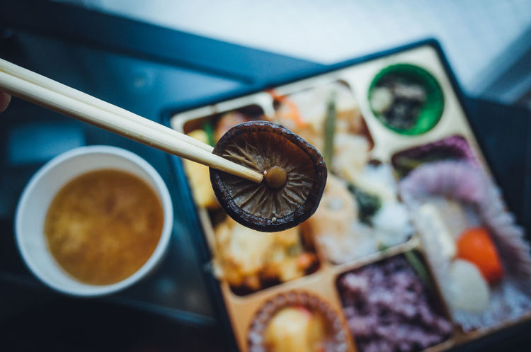 Exceptional Normalcy Show Us Your Takeaway! Capture The Moment Mealtime A Taste Of Life Bento Eating EyeEm Best Shots Japanese Food Lunch Mushrooms Simple Moment Bowl Chopsticks Close-up Day Directly Above Enjoying Life Food Food And Drink Freshness Healthy Eating Indoors  No People Personal Perspective Ready-to-eat Shiitake Shiitake Mushrooms Table Food Stories