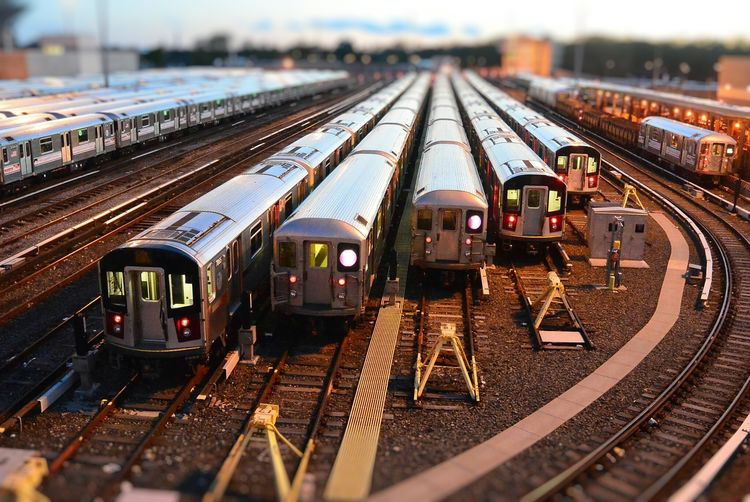 An old picture New York City Queens NYC Subway 7 Line Toy Trains