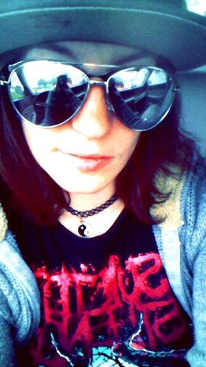 That's Me Snapchat Metalhead \m/ Suicide Silence Enjoying Life Aviators <3