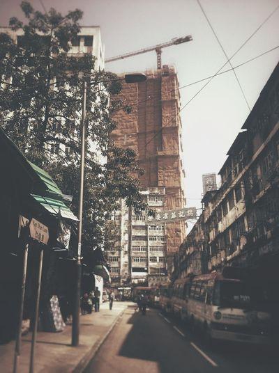華麗包裝紙 背後的一角。 Streetphotography HongKong Rebuilding Eye4thestreets