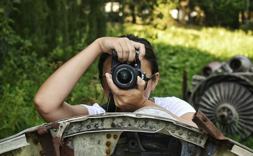 Camera - Photographic Equipment Photographing Outdoors Day Young Adult One Woman Only One Person People Love To Take Photos ❤ Mix Yourself A Good Time Good Times Leisure Activity Nature Valea Budului Romanian Lands