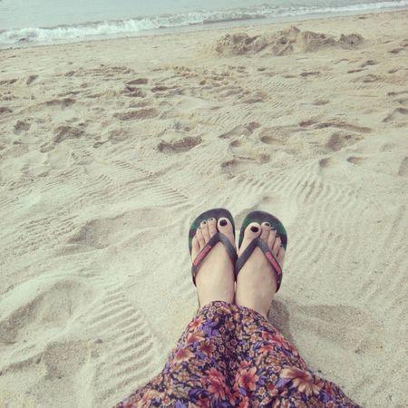 Beach Day Relaxing In The Sun Enjoying Life