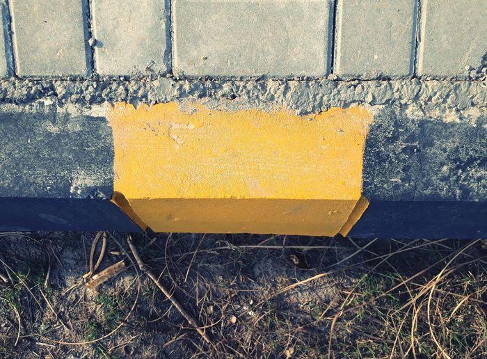 sidewalk Change Concrete Yellow Sidewalk Bricks Serene Colors Of Autumn Yellow Full Frame Close-up Architecture Stone Tile