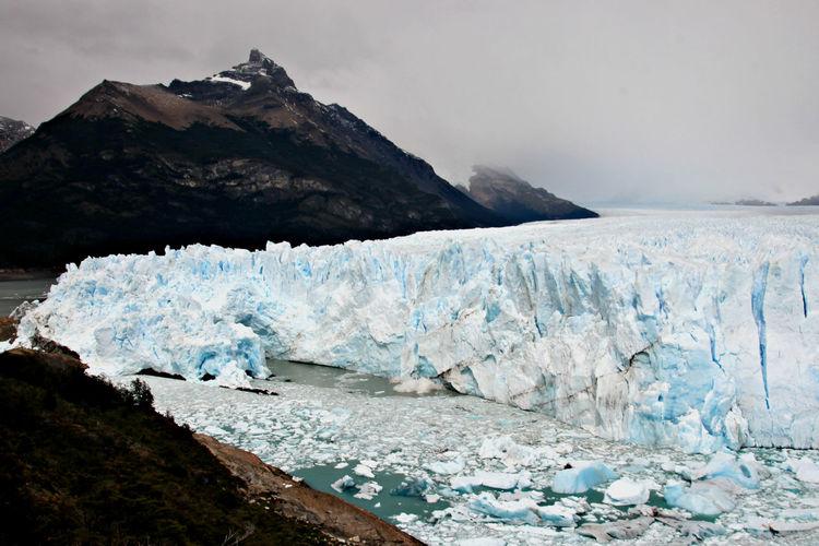 Scenic view of glacier perito moreno  argentina