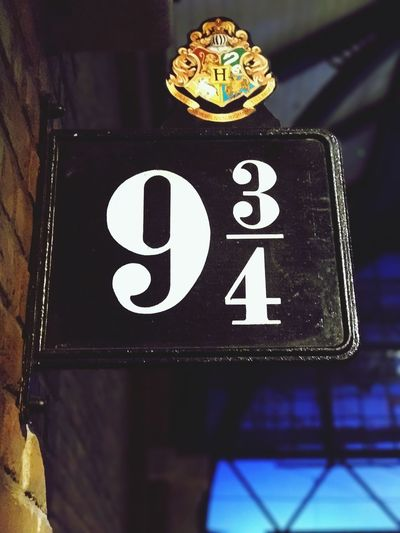 London Warnerbros Harrypotter 9 3/4 Singn England