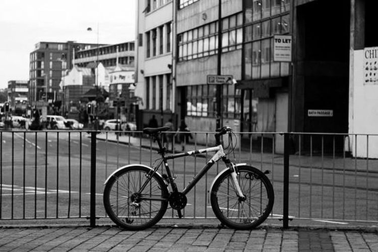 Bike Symmetry Streetphotography Black And White