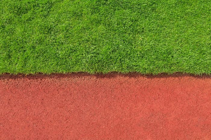 Surface Stadium Texture Grass Tarmac Clay Red Running Track Synthetic Natural Abstract Half Minimalism Background Simple Backgrounds Closeup Pitch Lawn Sport Detail Break The Mold
