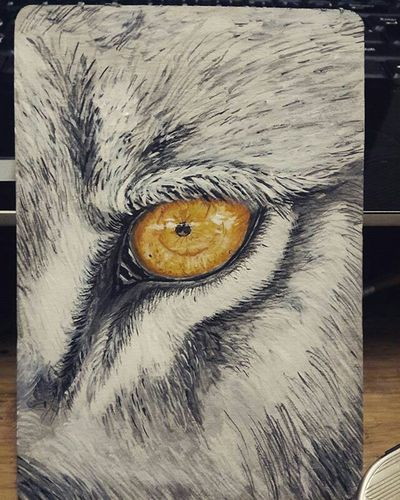 İşte bitti, resim, çizim, draw, paint, wolf, göz, eye, silme, silgi, kalem, boya :) Hi! Enjoying Life Resim Painting Boya Kucuksanat Firca Deneme ızmir That's Me