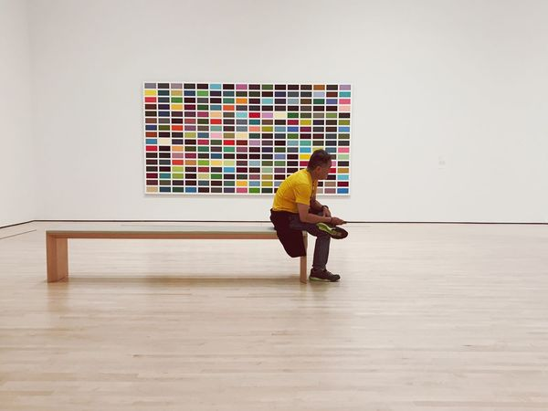 SFMOMA Gerhard Richter Full Length Indoors  Real People One Person Men Day One Man Only People