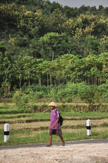 A farmer walk
