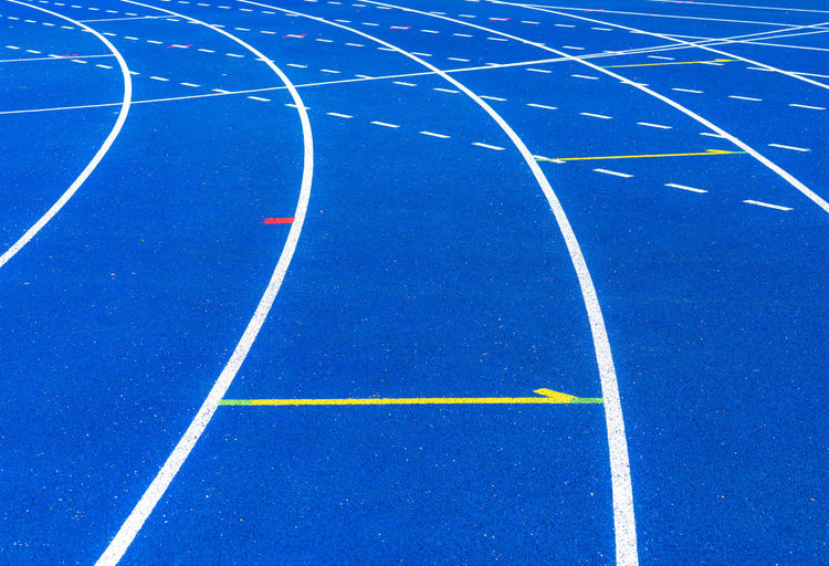 Teamwork Team Target Objective Lines Lines And Shapes Teamspirit Teamsport Sport Track And Field Running Track Curve No People Competition Sports Track Absence Blue Day Competitive Sport Outdoors White Color Direction Track And Field Stadium Sports Venue Pattern Full Frame High Angle View Backgrounds