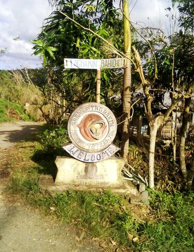 First Eyeem Photo First Photo 2016 Cadesthral Markers  Historical Landmarks Pola Landmark Street Marker Bahid 2 Pola Mindoro, Philippines Travel Trees Roadtrip Journey Nature Photography Nature On Your Doorstep Its All About Pola Love Travelling