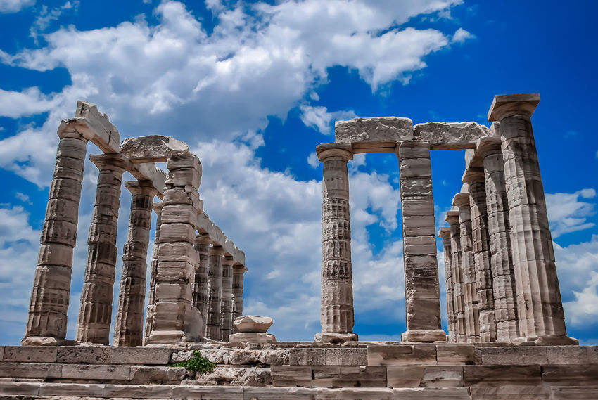 Temple of Poseidon at Sounio.. Ancient Ancient Civilization Archaeology Architectural Column Architecture Blue City Day Greece History No People Old Ruin Outdoors Pilgrimage Place Of Worship Religion Sounio Sounion Spirituality Travel Travel Destinations The Architect - 2017 EyeEm Awards
