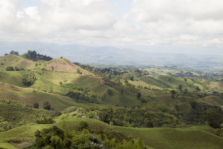 View from the Filandia lookout on the outskirts of Filandia, Quindio in Colombia's Coffee Region Colombia Beauty In Nature Coffee Region Day Landscape Nature No People Outdoors Sky South America