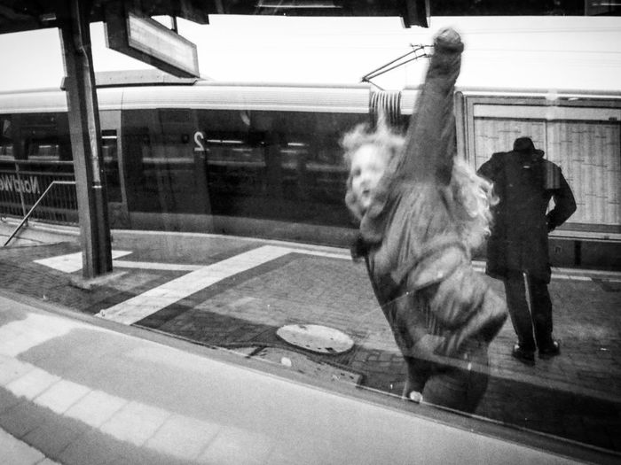 Adventure train journey 1/2 - MAinLoveWithLife and Little Girl Having Fun Fooling Around Fun Funny Funny Fools Children Children Photography Childhood Childhood Memories Childhood Fun Childhood Unplugged Monochrome Black And White Bnw Bnw Photography Bnw_collection Bnw_life Reflections Reflection_collection Be Yourself How I Feel At Times How I See People How I See The World - 24.10.2016