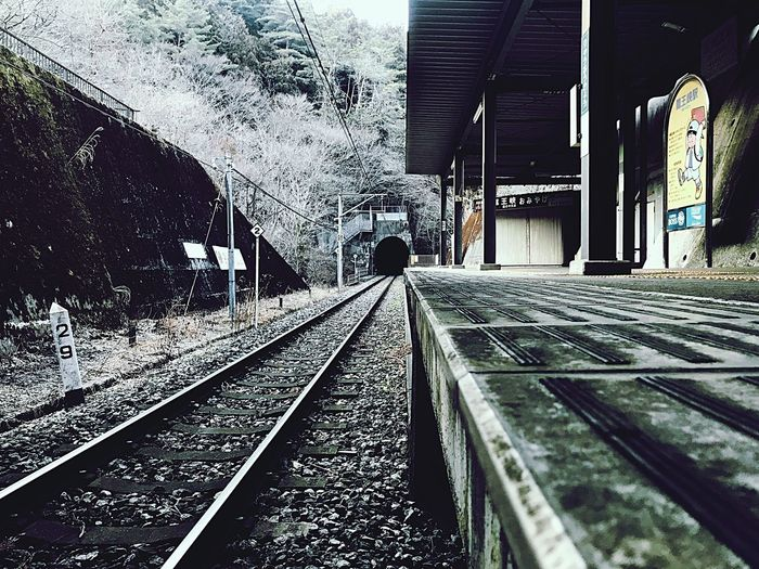 ryuo-kyo station Travel Photography Adventure Japan Station Rail Transportation Transportation Track Railroad Track Public Transportation Architecture Built Structure Mode Of Transportation Travel Railroad Station Day Sunlight Platform The Way Forward No People