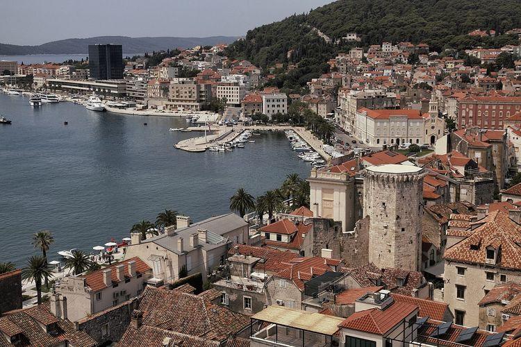 Adriatic Coast Adriatic Sea Architecture Architettura Buildings Croatia Harbour Roman Architecture Spalato Split Two Towers
