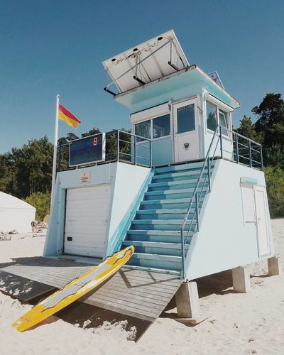 EyeEm Selects Outdoors No People Summer Sand Day Beach Architecture Sky Lifeguard Station Lifeguard Tower Beachphotography Beach Freshness Sunny Holiday