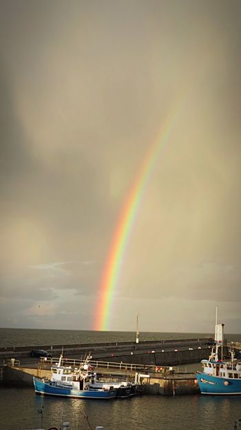 A View Of Wildlife EyeEm Best Shots - Nature Scenery Home Seahouses Northumberland Harbour Rainbow Boats Eyem Best Shots