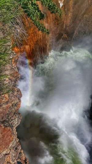 Rainbow over the waterfall Yellowstonenationalpark Yellowstone Adventuretime Bewild Camping Backpacking Usnationalparks Hotsprings Colors Travelstagram Exploring Trip View Neverstopexploring  Traveljunk Travelblogger Travel Photography Eyem Landscape_Collection Eyemphotography Hiking The Great Outdoors - 2018 EyeEm Awards Water Hot Spring Tree Lake Landscape Geyser Waterfall Flowing Geology Long Exposure Rapid Natural Landmark