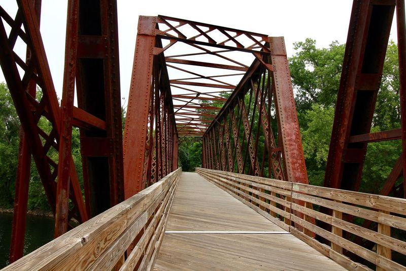 Rail Trail Bridge Northampton MA Recreational Trail Bike Path Bike Trails