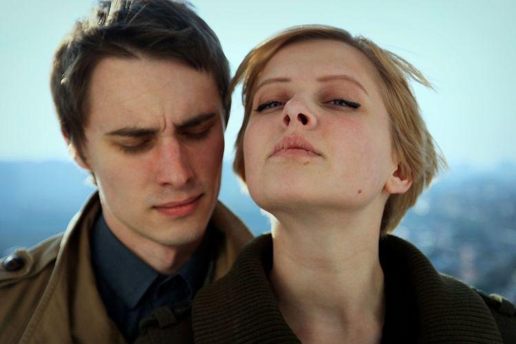 Close-up portrait of a couple