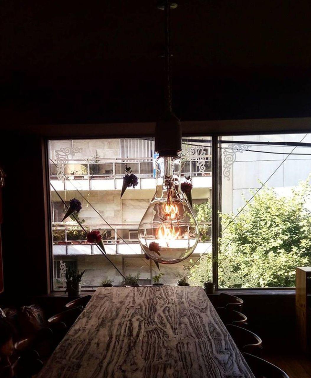hanging, window, indoors, lighting equipment, no people, illuminated, day, nature