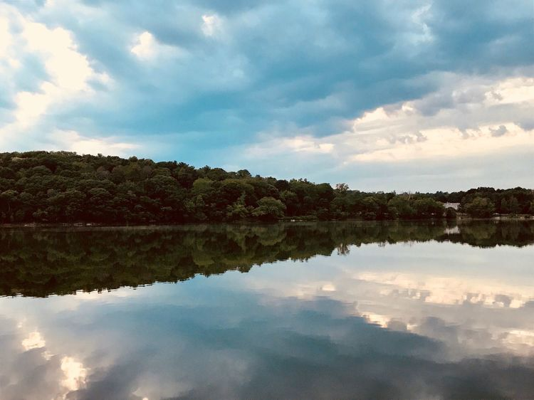 Reflection Sky Cloud - Sky Nature Water Tranquility Tranquil Scene