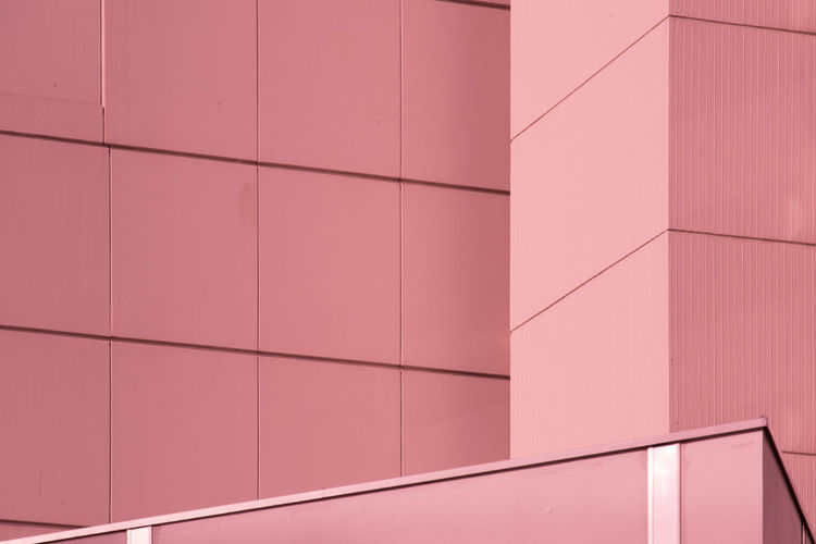 Architecture Backgrounds Building Building Exterior Built Structure Day Design Flooring Full Frame Geometric Shape Hoffi99 Modern No People Outdoors Pattern Pink Color Repetition Shape Tile Tiled Floor Wall - Building Feature Sparse Flooring Shape Modern Architecture Indoors
