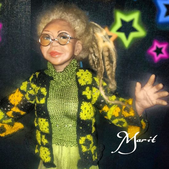 A new doll named Camilla Handmade By Me Hanging Out Artdolls ArtWork
